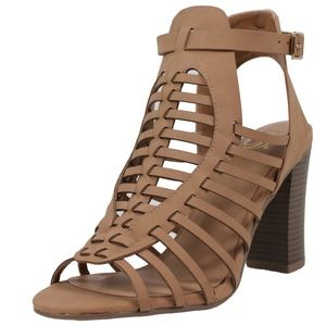 Shoes - Size 8.5 Ibiza Sand Weave Open Back Ankle Boot